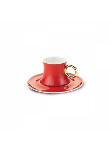 Korkmaz Freedom 6'lı Kırmızı Kahve Fincan Takımı Kırmızı